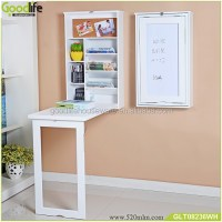 Kids wall mount folding wooden study table designs, View ...