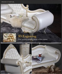 French Style Bedroom Furniture- High End Classic Chaise ...