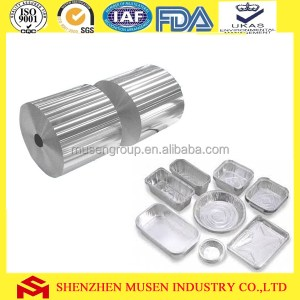 Food container type for industrial aluminum foil roll