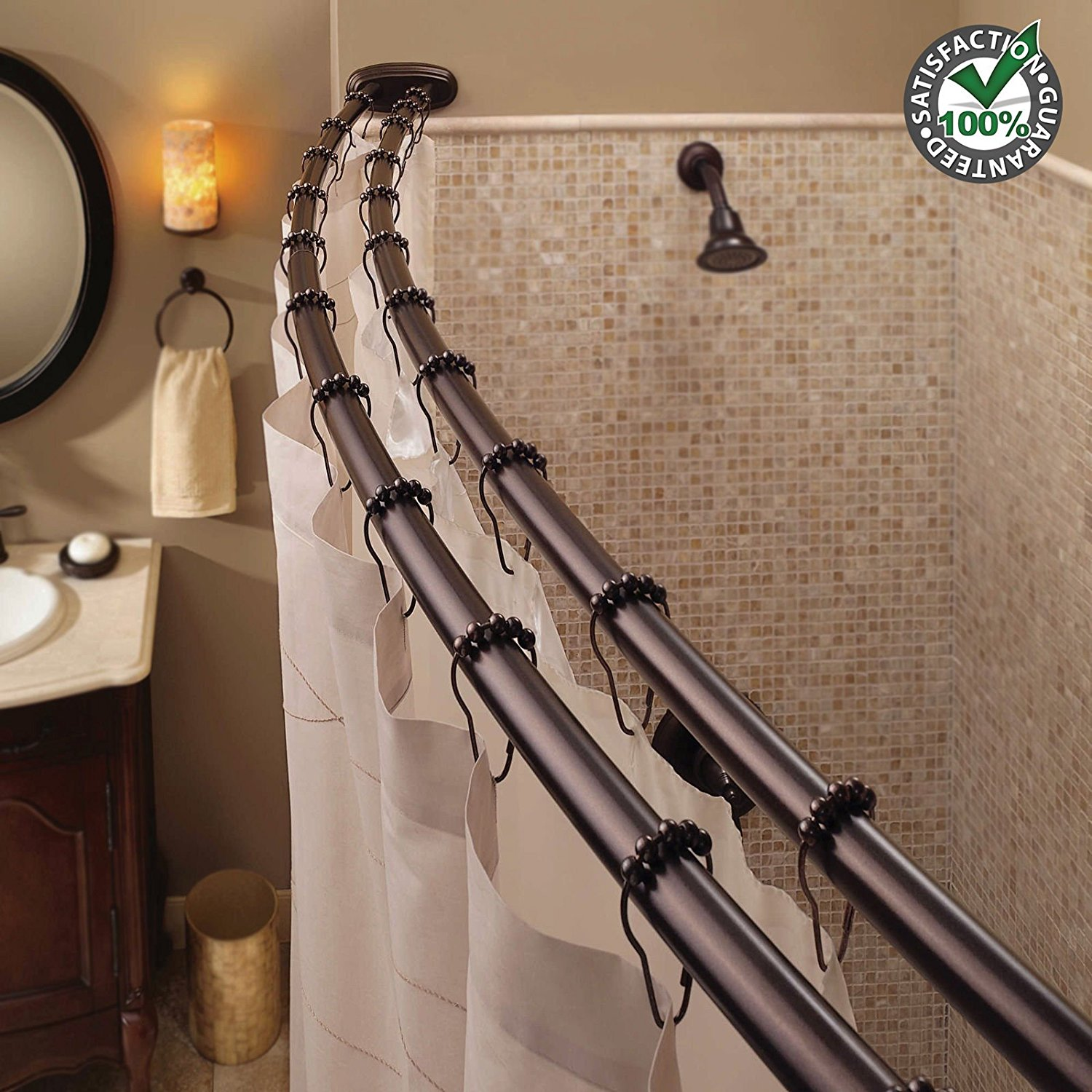 Bronze Double Shower Curtain Rod Oil Rubbed Bronze Double Shower Rod Sevenstonesinc