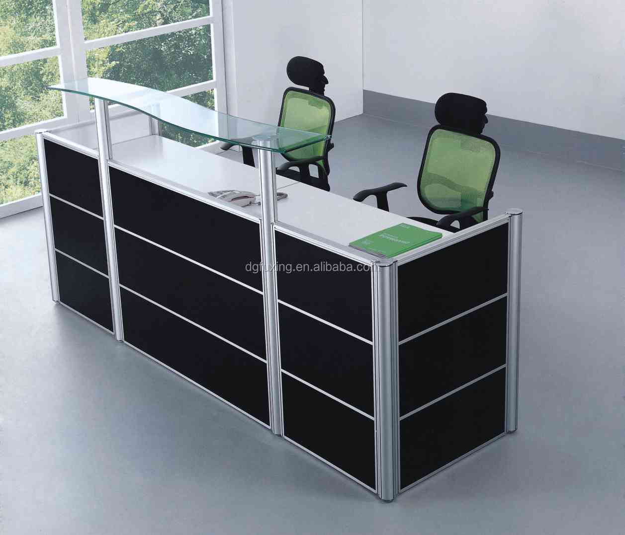 Sale Counter Design Fashionable High Bar Tables Half Round Reception Desk