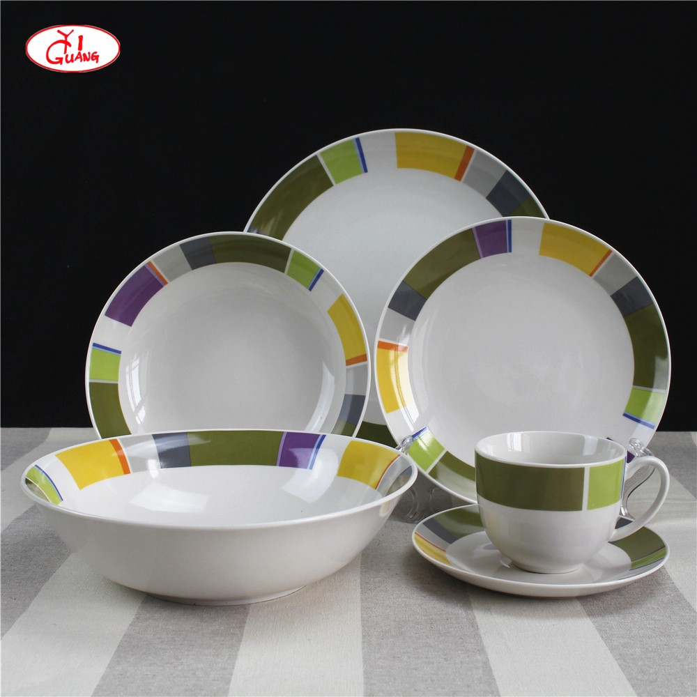 Modern Style 19pcs Porcelain Dinnerware Set For Spain And Portugal Buy Porzellan Geschirr Spanisch Stil Geschirr Portugiesisch Porzellan Geschirr Product On Alibaba Com