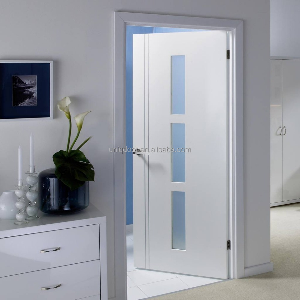 Dsk Doors White Wood Door With Clear Glass Window Insert Buy Wood Door Design Window Door Glass Insert Interior Glass Doors Product On Alibaba