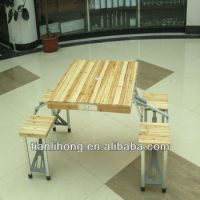 Cheap Folding Wood Picnic Table With Chair - Buy Wood ...