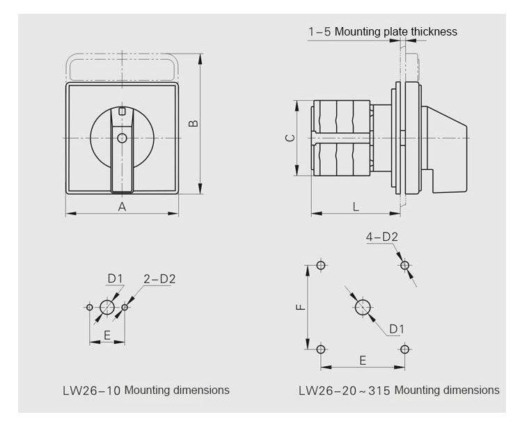 2 pole changeover switch wiring diagram