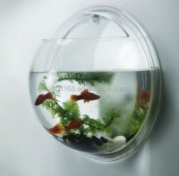 Clear Acrylic Wall Mount Round Fish Tank/small Plastic ...