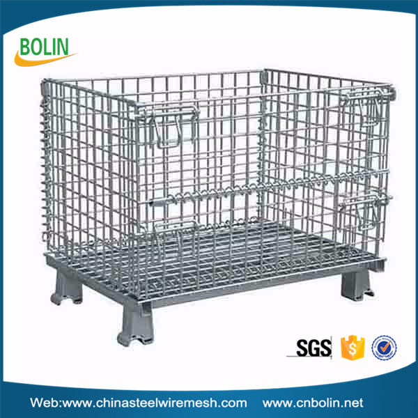304 Stainless Steel Collapsible Wire Mesh Wheeled
