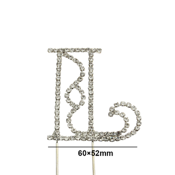Custom Rhinestone Letter L Cake Topper For Wedding Celebration - Buy