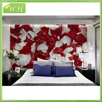 Large Mural Wallpaper 3d Wedding Room Rose Petal Wallpaper Bedroom - 3d wallpaper for living room