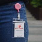 Factory direct sale custom design soft pvc badge holders/business id card holder