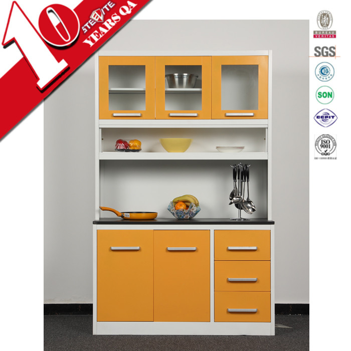 Assembled Kitchen Cabinets For Sale High Gloss Factory Price Metal Kitchen Unit Kitchen