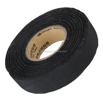 Black 19mm Width Adhesive Cloth Wiring Loom Harness Insulating Tape