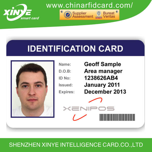 pvc printed sample employee id cards, View employee id cards, xinye
