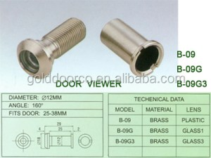 New Brass Door viewer Peephole With dust-proof cover