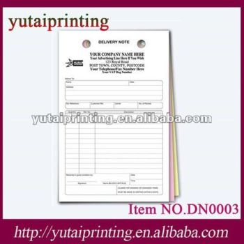 Delivery Note Register Form - Buy Delivery Note Form,Cash Register - sample delivery note template