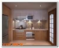 Apartment Bright Color Kitchen Cabinet,Small Kitchen ...