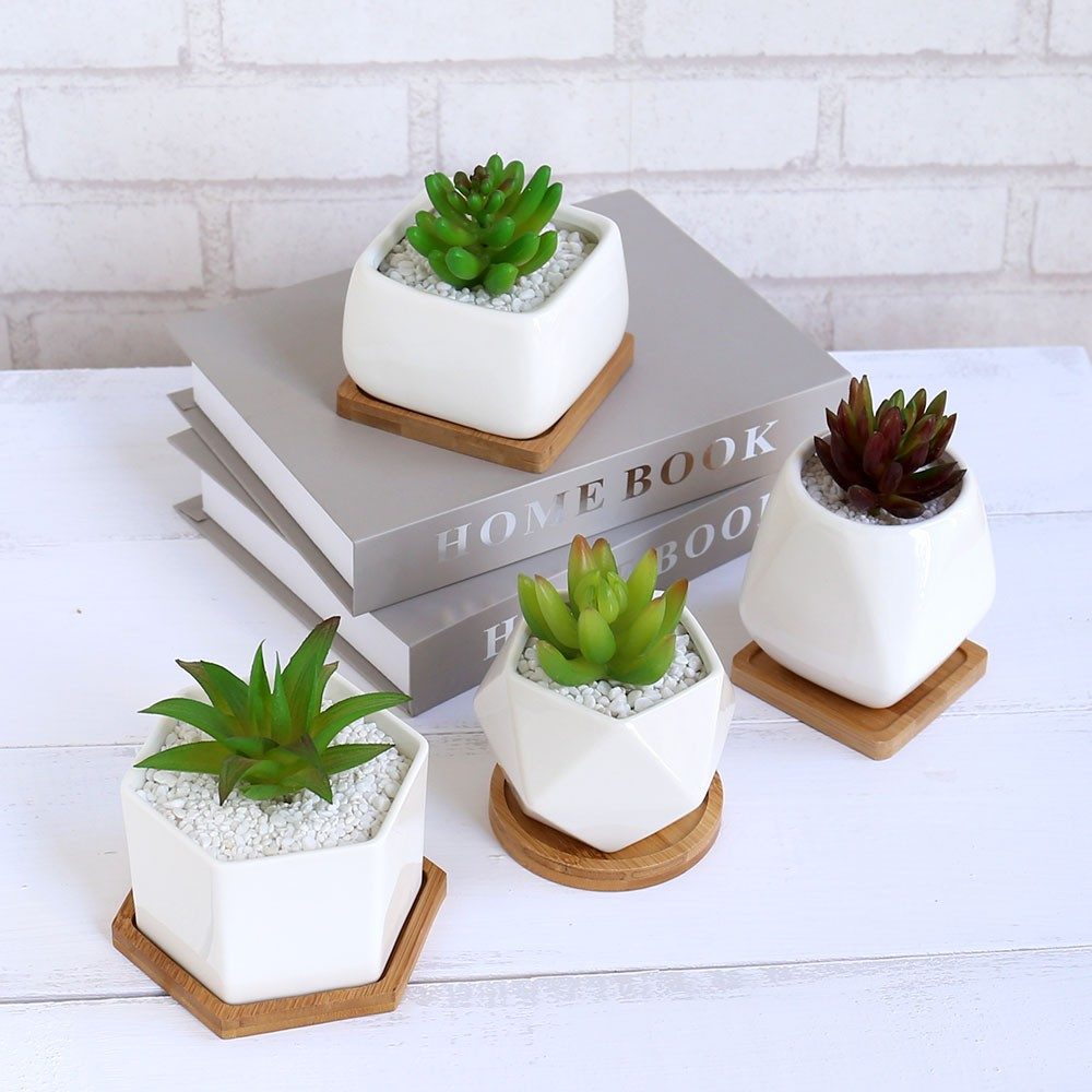 Wholesale Produce Company Best Selling Geometric Ceramic Mini Succulent Pots