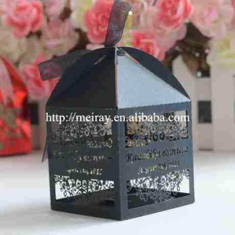 Source Custom black Islamic candy box wedding favour paper diwali gift boxes