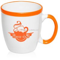 Thermal Plain White Ceramic Mugs And Cups With Silicone ...