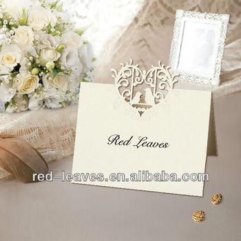 Romantic Birdcage Design Paper Place Cards Elegant Christmas Place - buy place cards