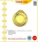 Custom blank metal medal for gold finish