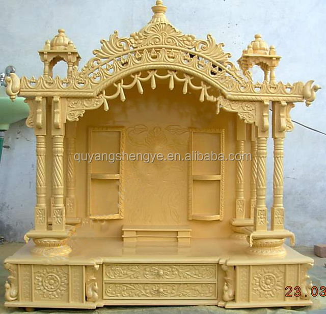 Stunning Wooden Pooja Mandir Designs For Home Pictures   Interior .