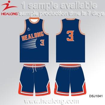 Healong Manufacturer Full Zipper Basketball Jersey Design Template
