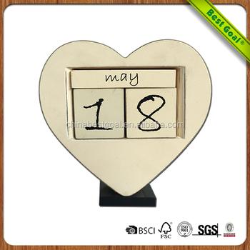 Mdf Wooden Creative Calendar Diy Perpetual Calendar - Buy Diy