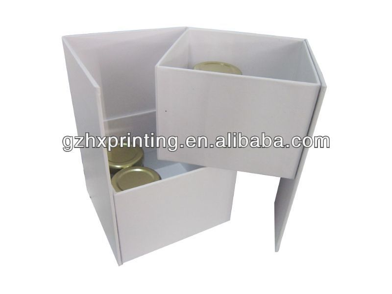 Double Deck Display Paper Box Template Manufacturing - Buy Double