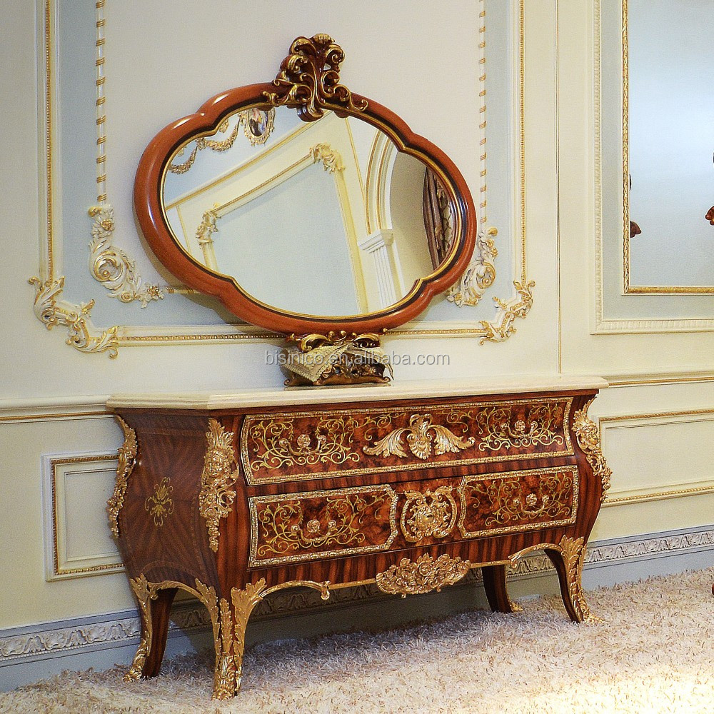 Dressoir Kast Slaapkamer Royal Louis Xv Marquetry 24 K Vergulde Dressoir Commode Kast Met Spiegel Nieuwe Klassieke Vanity Slaapkamer Dressoir Meubels Buy Dressoir Kast Met