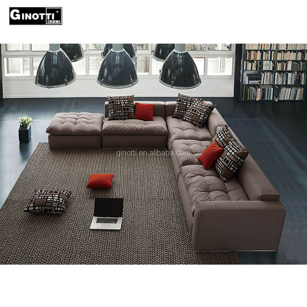 L Shape Sofa Set Designs+price Factory Price Latest Design L Shape 7 Seater Modular Living Room Sofa Set View Living Room Sofa Ginotti Product Details From Dongguan Ginotti