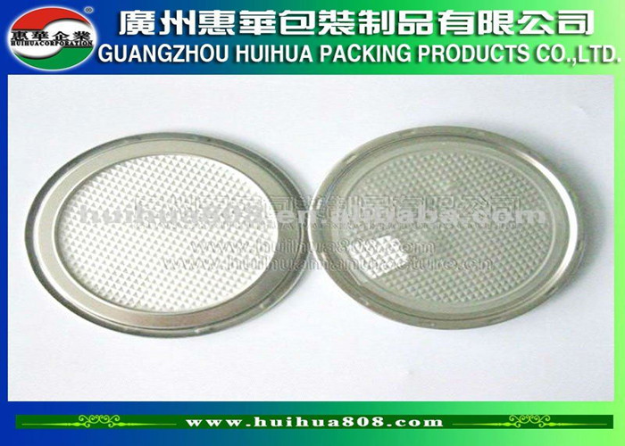 Air Tight 023 Mm Thick Aluminium Foil Tin Can Lids With
