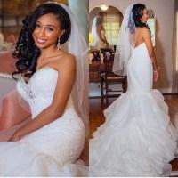 Ll031 New White/ivory Beaded Mermaid Wedding Dresses 2017 ...