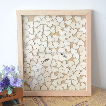 Personalized Letters Drop Box Heart Wood Guest Book For Rustic