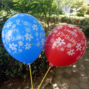 Printable Happy Birthday Balloons With Screen Printing - Buy Printed