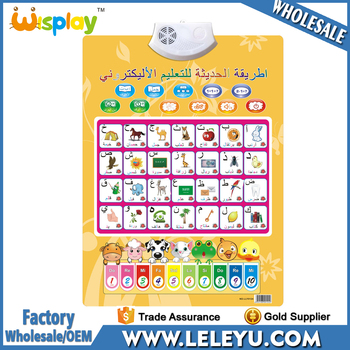 2017 Arabic Alphabet Chart Learning Poster Kids Study Wall Chart - kids chart