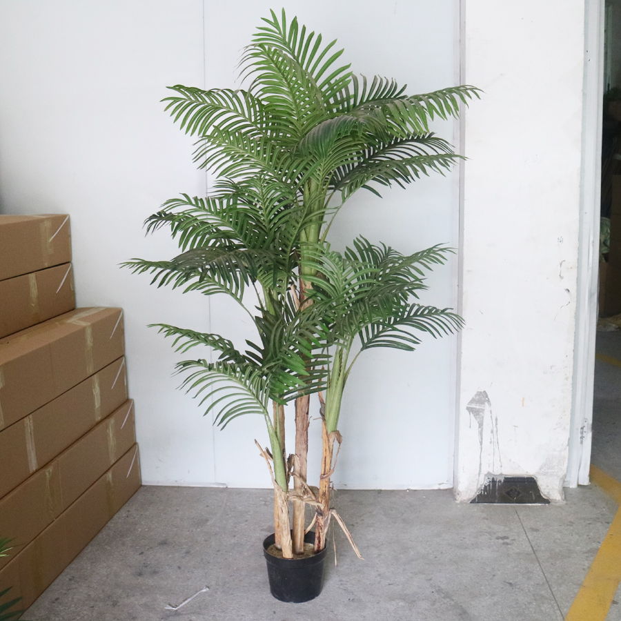 Artificial Areca Palm Tree Potted Plants Artificial Chrysalidocarpus Lutescens Bonsai Synthetic Indoor Coconut Tree Buy Artificial Chrysalidocarpus China Artificial Palm Trees Plant Wholesale Alibaba