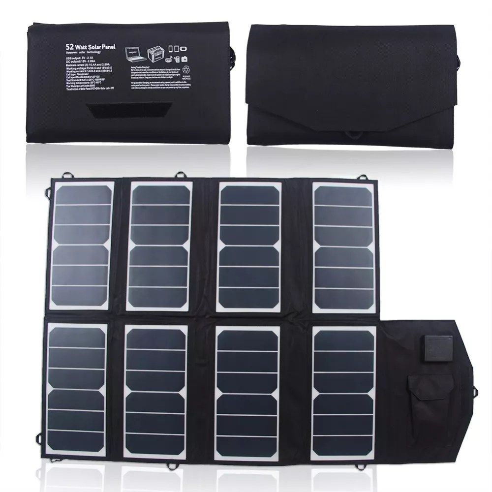 Mobiel Zonnepaneel Draagbare Mini Zonnepaneel 12v 52w Mobiele Vouwen Zonnepaneel Lader Buy Mobiele Solar Charger Solar Mobiele Telefoon Oplader Draagbare Zonne Lader