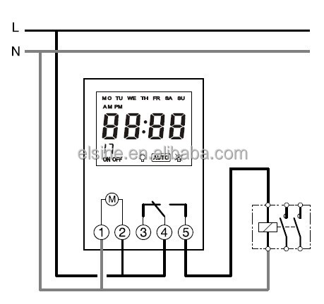 110 Switch Wiring Diagrams Thc711 Channel Weekly Programmable Digital Electronic