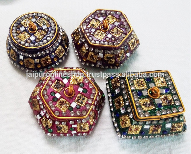 Assorted Gorgeous Trinket Boxes Metal Lac Boxes Lac