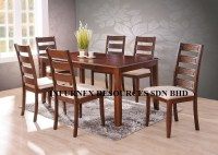 Solid Rubberwood,Dining Set (1+6),Dining Table,Dining ...