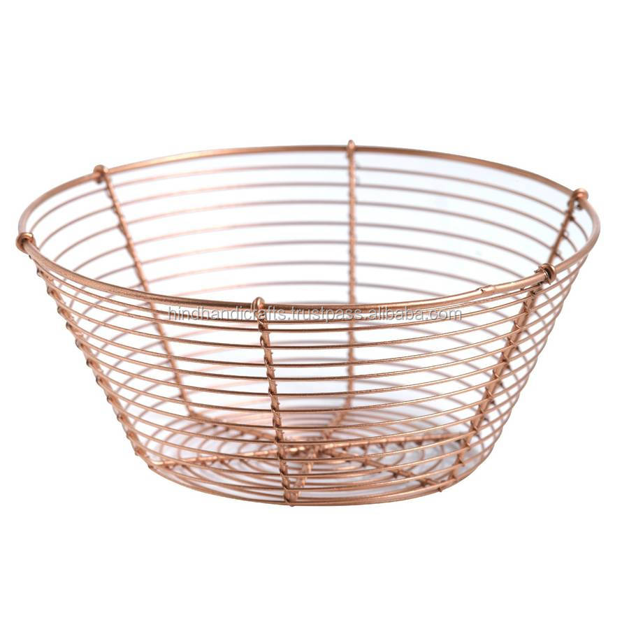 Wire Fruit Bowls Stainless Steel Wire Mesh Basket For Home Decor Buy Stainless Steel Wire Mesh Round Basket Round Metal Wire Baskets Wire Basket For Office