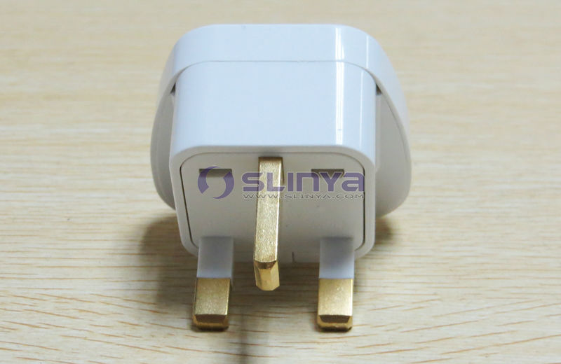 Copper Material Singapore Plug Adapter With Safety Shutter