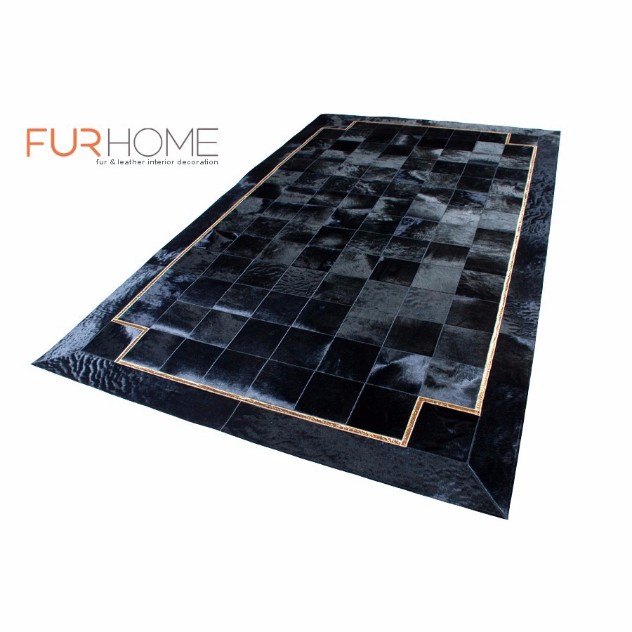 Kuhfell Teppich Hund Patchwork Cow Hide Rug Echtleder Echt Teppich Farbe Schwarze Hide Teppiche 20 Golden Croco Line Buy Patchwork Kuhfell Teppich Schwarz Product On