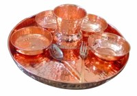 Copper Dinner Plates & Collection Of Six Copper Dinner ...
