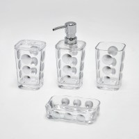 Hotel Style Clear Acrylic Crystal Bathroom Accessories ...