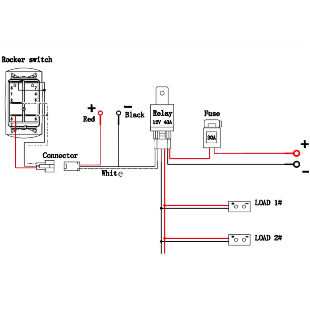 dc lighted switch wiring diagram