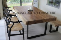 Malaysian Wood Dining Table Set/bali Dining Room Table