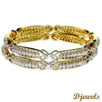 Designer Diamond Bangles,Fancy Diamond Bangle,White Gold