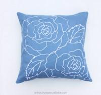 Latest design flower pillow cover, handmade embroidery ...